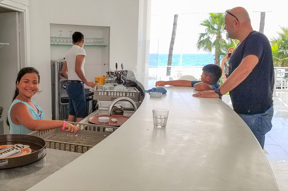 The bar at Olimpos Beach Hotel