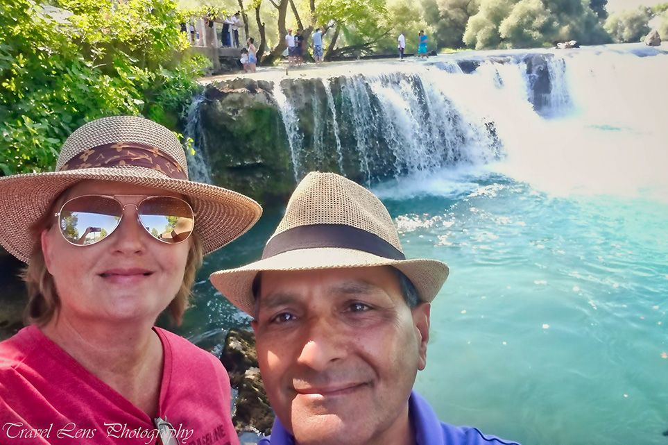 Lanell and Omar Manavgat Waterfall
