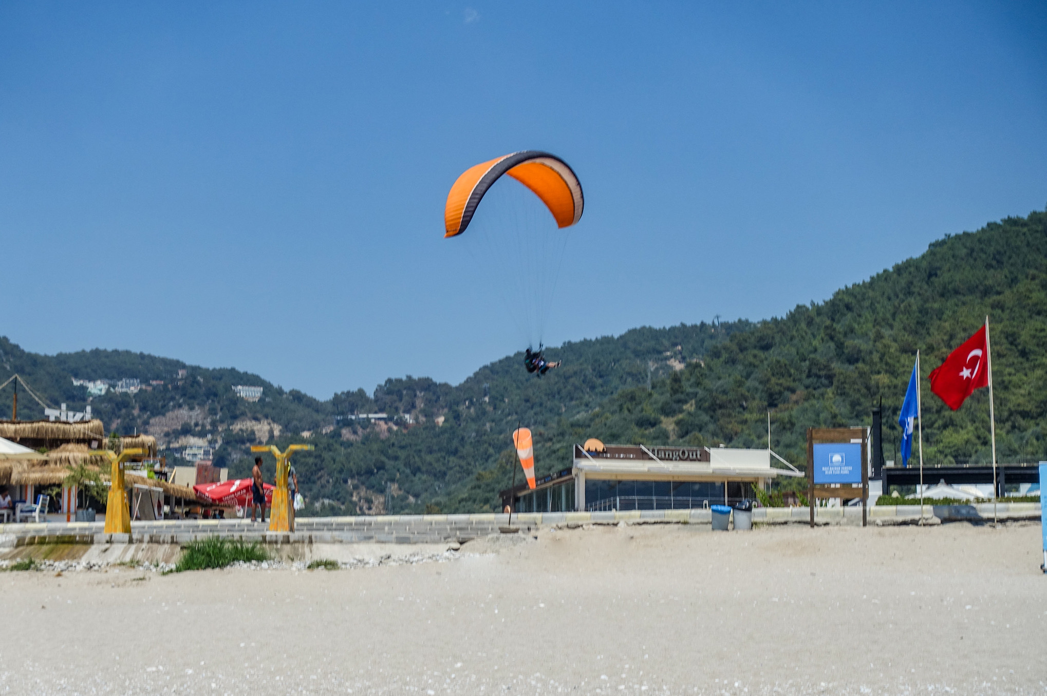 Landing at Oludeniz