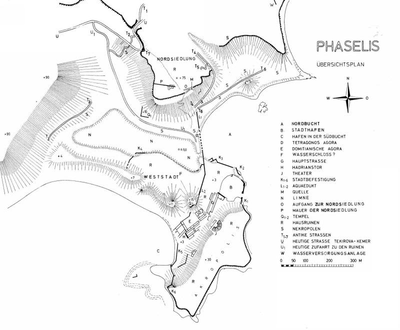 phaselis map