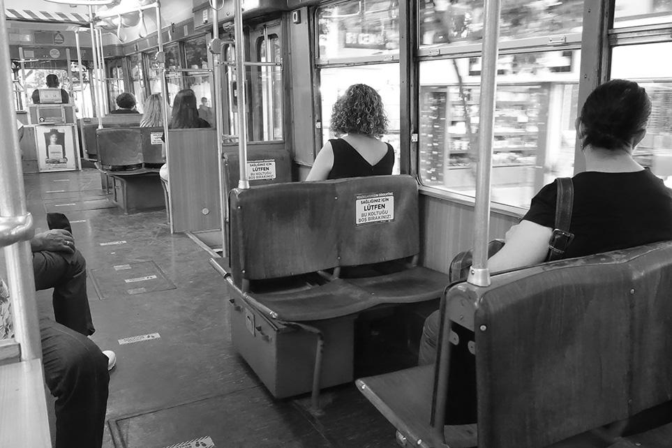 Nostalgic Trolley Inside