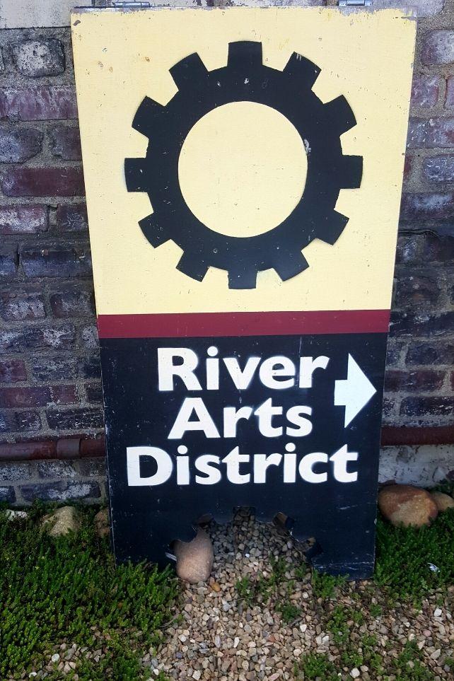 River Arts District Sign