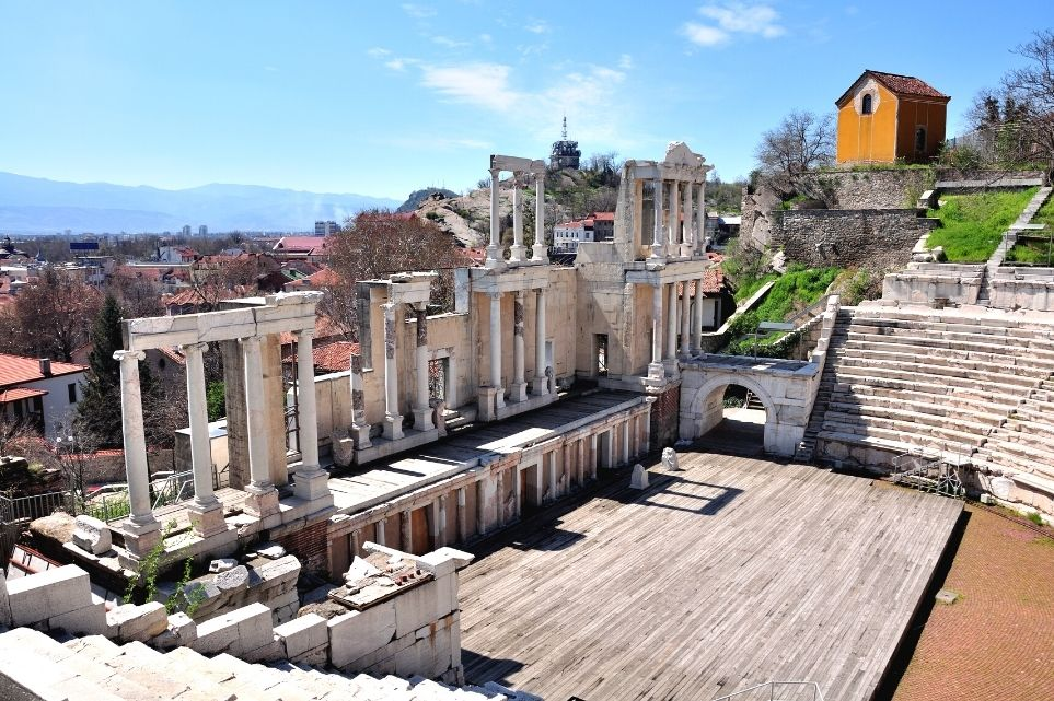 Roman Columns Plovdiv